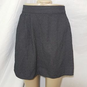 Old Navy Polka Dot Black White Mini Skirt L